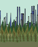 City Forest Illustration Royalty Free Stock Photography
