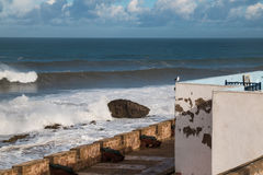 City fortification and the Ocean, Essaouira Morocco Royalty Free Stock Photography