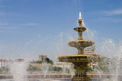 City fountain landscape Royalty Free Stock Photography