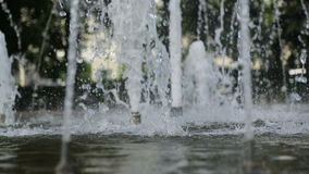 City fountain in the park stock footage