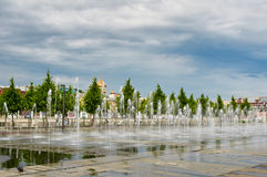 City fountain in summer Stock Image