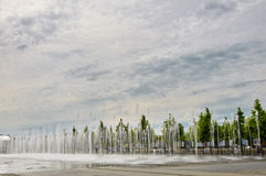 City fountain in summer Stock Photo