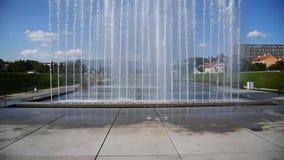 City Fountains near the center of Zagreb, Croatia stock footage