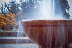 City fountains working in the form of vases royalty free stock images