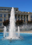 City Fountian in the Summer. Image of a city fountain in the summer stock images