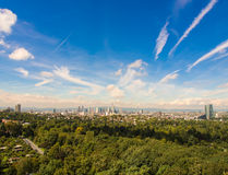 The City of Frankfurt, Germany, seen from the South Royalty Free Stock Photos
