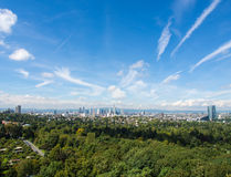 The City of Frankfurt, Germany, seen from the South Royalty Free Stock Images