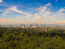 The City of Frankfurt, Germany, seen from the South Stock Images