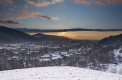 City of Freiburg, Germany in winter Stock Photos