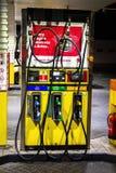 City fuel station. Dubai, UAE - November 30, 2018: Dubai`s Eppco city gas station at night stock images