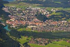 City Fuessen in Bavaria, Germany Royalty Free Stock Photo