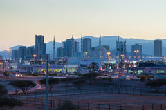 City of Fujairah at dusk. United Arab Emirates Royalty Free Stock Photography
