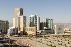City of Fujairah, UAE. View of the downtown of Fujairah City. United Arab Emirates, Middle East stock photos