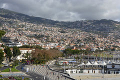 City of Funchal in Madeira, Portugal Royalty Free Stock Photos