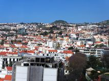 City of Funchal Madeira in Portugal stock photos