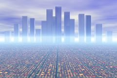 City of the future. Background possible to use for printing and project Stock Photography