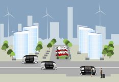 The city of the future concept. stock illustration