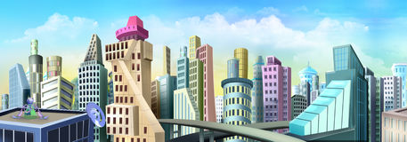 City of the future Royalty Free Stock Photos