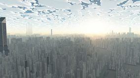 City of the future stock images