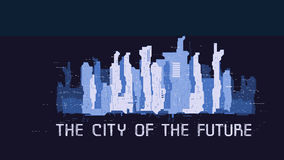 The city of the future poster Stock Photos