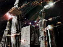 city futuristic Στοκ φωτογραφία με δικαίωμα ελεύθερης χρήσης
