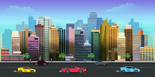 City game background 2d application. Vector design. Royalty Free Stock Photography