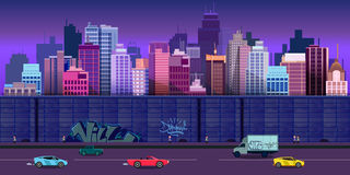 City game background 2d application. Vector design. Stock Images
