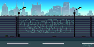 City game background. Vector unending background with separated layers for game Royalty Free Stock Images