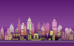 City Game Backgrounds ,2d game application. Stock Photo