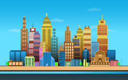 City Game Backgrounds ,2d game application. Royalty Free Stock Images