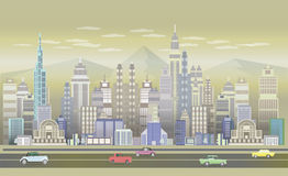 City Game Backgrounds With retro cars ,2d game application . Stock Image