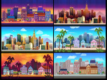 City Game Backgrounds Set Royalty Free Stock Photo