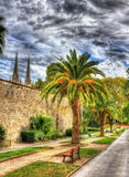 City garden of Bayonne - France Stock Images