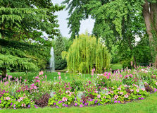 City garden in Epernay Stock Photography