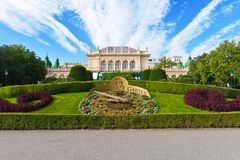 City garden in Vienna, Austria Royalty Free Stock Images