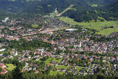 City Garmisch-Partenkirchen in Bavaria Stock Photo