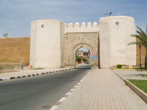 City gate. Wall and small city gate in Marrakesh, Morocco royalty free stock images