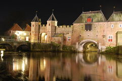 City gate. Koppelpoort, a city gate in Amersfoort, the Netherlands Royalty Free Stock Image