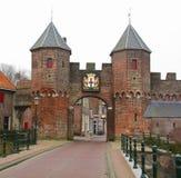 City gate Amersfoort stock images