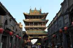 The City Gate of the ancient city Pingyao Stock Image
