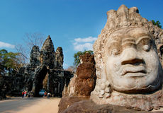 City gate of Angkor Thom Stock Image