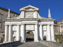 City gate, Bergamo (Porta San Giacomo) Stock Image