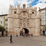 City gate in Burgos, Spain Stock Photo