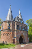 City gate Cellebroederspoort in historical Kampen Stock Image