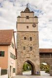 City gate in Dinkelsbuehl Stock Photo