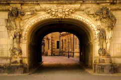 City gate of Dresden in summertime, Germany. stock photos