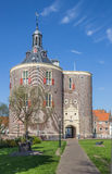 City gate Drommedaris in the historical center of Enkhuizen Stock Photos