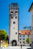 City gate entrance tower in Germany Royalty Free Stock Images