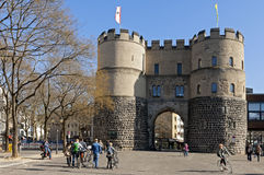 The city gate the Hahnentorburg, Cologne Royalty Free Stock Image