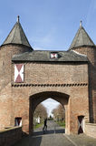 City gate Klever Tor, Xanten, and German tourists Stock Photos